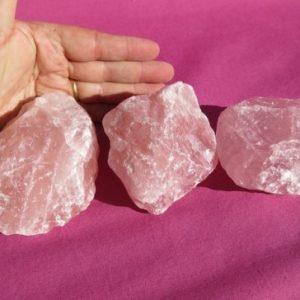 Rose quartz roughs
