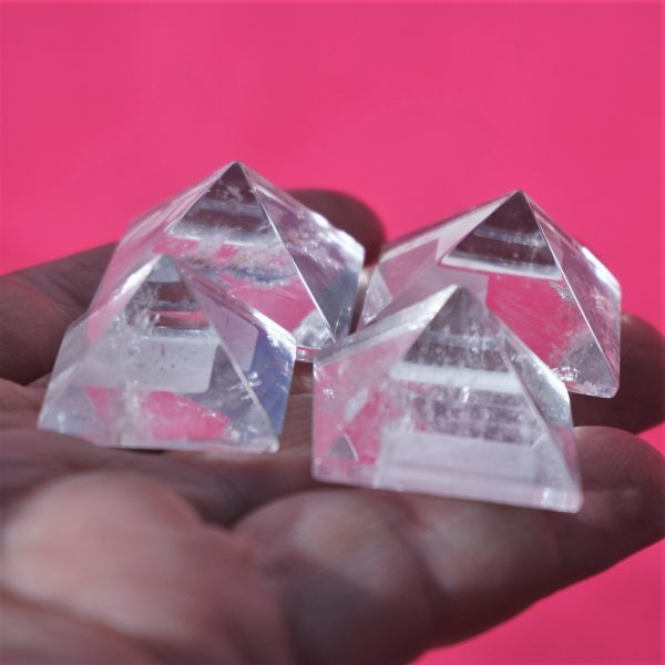 Clear Quartz Pyramids Mini