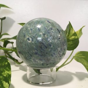 Ruby in Fuchsite Sphere with Kyanite