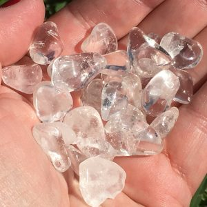 Clear Quartz Bags of Tumbles in Mini Size