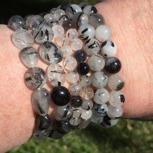 Tourmalinated Quartz Bracelets
