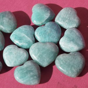 buy amazonite hearts in small size