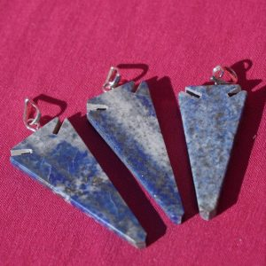 lapis lazuli arrow head pendant