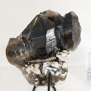 smoky quartz elestial cluster on matrix