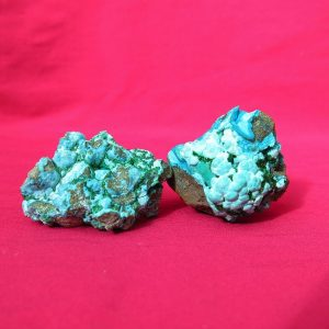 Chrysocolla with malachite Clusters