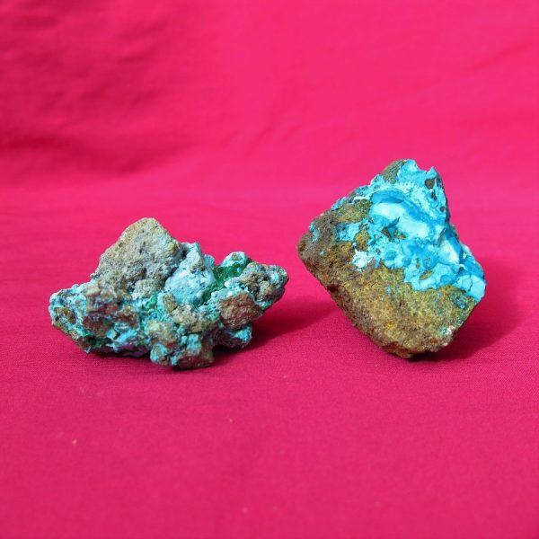 Chrysocolla specimens
