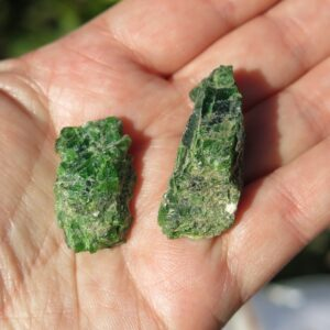 POST diopside crystals