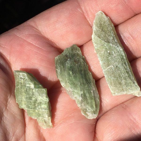 kyanite rulers - green