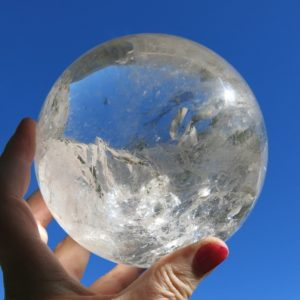 Large Clear Quartz Sphere