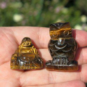 Tiger's Eye Owl and Buddha
