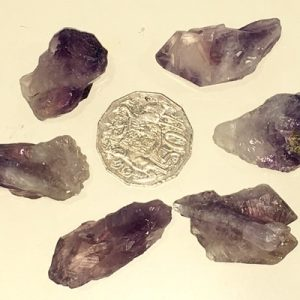 Bag of amethyst points