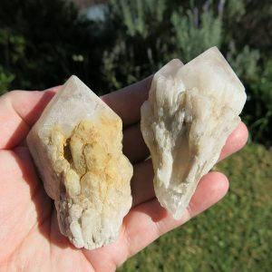 candle quartz cluster points