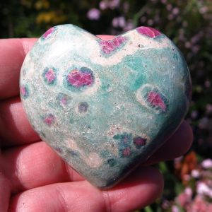buy Indian Ruby in Fuchsite Heart