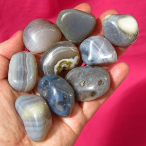 Grey agate - plain and banded