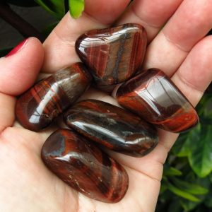 Red Tiger's Eye Tumbles - A grade