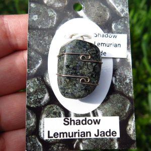 Shadow Lemurian Jade Pendant - silver