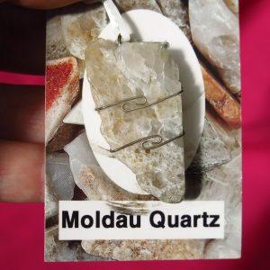 buy Moldau Quartz Pendant in Silver