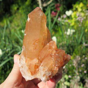 Tangerine Quartz Cluster from Africa