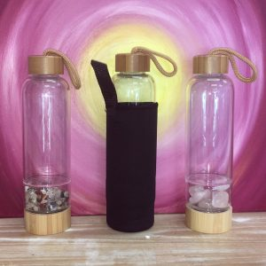 CATEGORY water bottle in bamboo for crystals