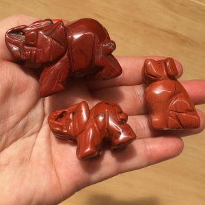 red jasper crystal animals