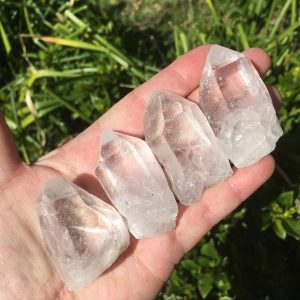 bag of clear quartz points