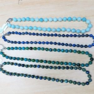 Crystal Bead Necklaces - amazonite, lapis lazuli, azurite-malachite, chrysocolla