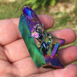 buy titanium aura quartz cluster