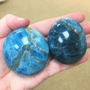 buy blue apatite large tumbles from Madagascar