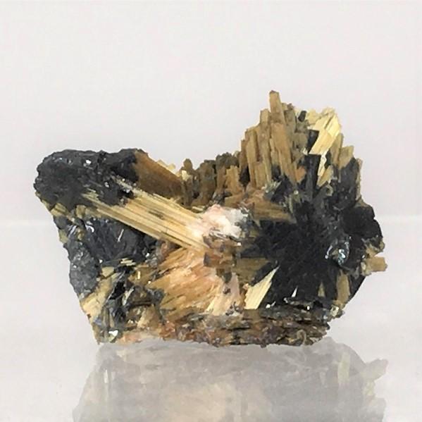 buy golden rutile on hematite from Brazil
