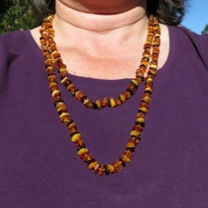Very Long Baltic Amber Necklace