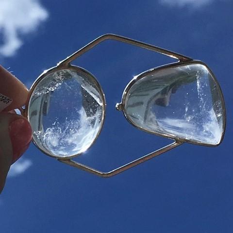 Clear Quartz Pendant in silver