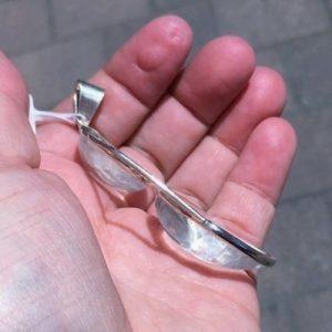 Clear Quartz Silver Pendant