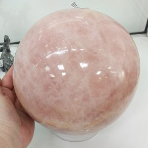 Huge Madagascan Rose Quartz Sphere