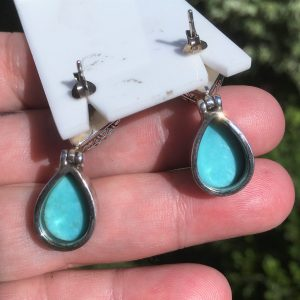 buy turquoise earrings in silver